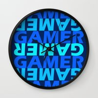 gamer Wall Clocks featuring Gamer by Joynisha Sumpter