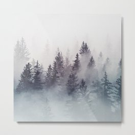 Winter Wonderland - Stormy weather Metal Print