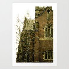 Historic church Art Print