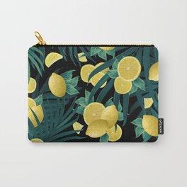 Summer Lemon Twist Jungle Night #1 #tropical #decor #art #society6 Carry-All Pouch