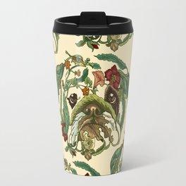 Botanical English Bulldog Travel Mug