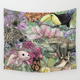 Flora and Fauna of Mexico Wall Tapestry