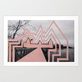 Trakai Castel // de-characterization Art Print