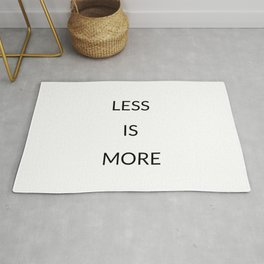 Less is more Rug