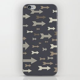 Arrows of different sizes and pastel colors. iPhone Skin