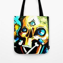 Skull street art Tote Bag