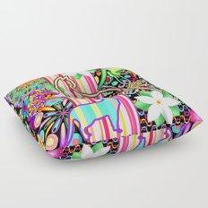 Mandalas, Cats & Flowers Fantasy Pattern Floor Pillow