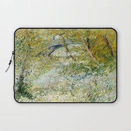 River Bank in Springtime Laptop Sleeve