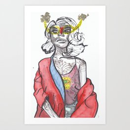 Queen of the ring Art Print