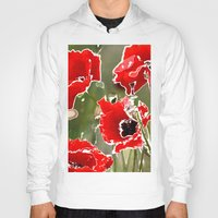poppies Hoodies featuring Poppies by Regan's World