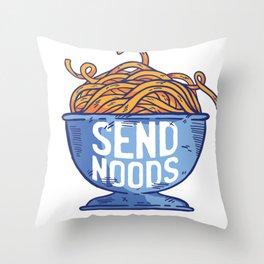 send, noods Throw Pillow