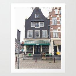 Cafe Winkel Art Print