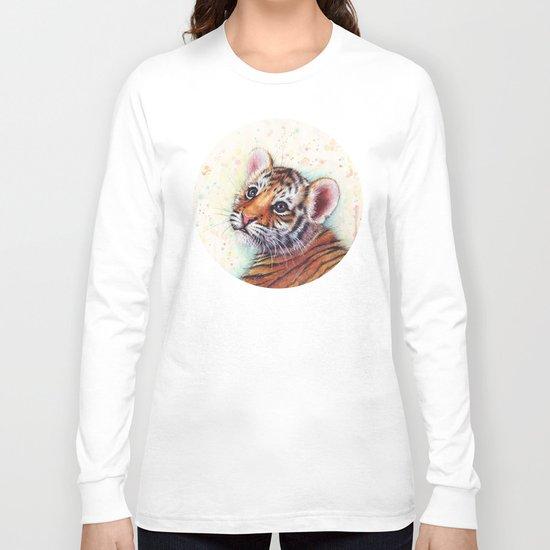 Tiger Cub Cute Baby Animals Long Sleeve T-shirt