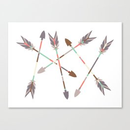 Arrow Stack Canvas Print