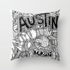 Geometric Mutations: Austin, TX Throw Pillow
