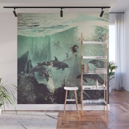 The Sea Unicorn Lady Wall Mural