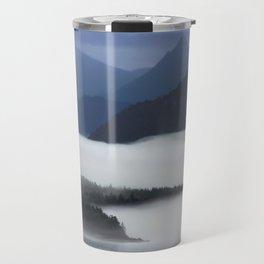 Misty Alaskan Fjord Travel Mug