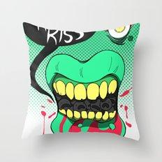 Kiss kiss Throw Pillow