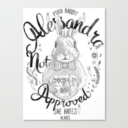 Alessandra not approved_Bunny Canvas Print