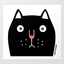 Catz! (black) Art Print