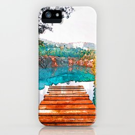 Blue Cove Athens USA Jetty - Jetties Around The World iPhone Case