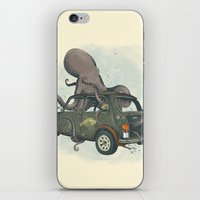 beastie boys iPhone & iPod Skins featuring Beastie of the Deep by Clinton Jacobs