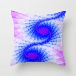Fractal Purple Sky Wings Throw Pillow