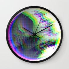 Death Star Glitch Wars Wall Clock