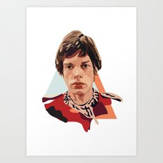 Young Jagger Art Print