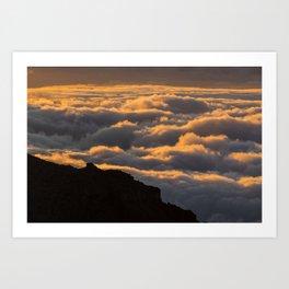 Sunset in La Palma Art Print