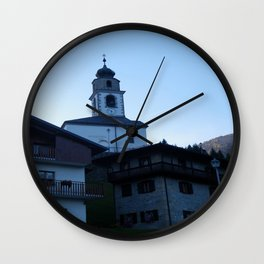 Italian Mountain Village: A View Wall Clock
