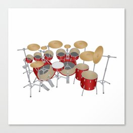 Red Drum Kit Canvas Print