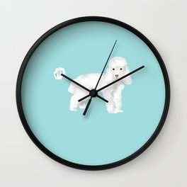 toy poodle funny farting dog breed pure breed pet gifts Wall Clock