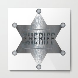 Sheriff Badge Metal Print