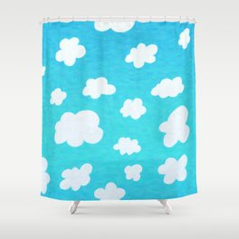 Happy Little Clouds Shower Curtain