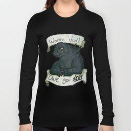 godzilla vs male entitlement Long Sleeve T-shirt