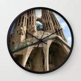Work in Progress (La Sagrada Familia) Wall Clock