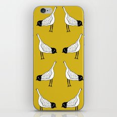 Bird Mirror Repeat - Mustard Yellow iPhone Skin