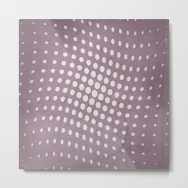 Halftone Flowing Circles in Musk Mauve Metal Print