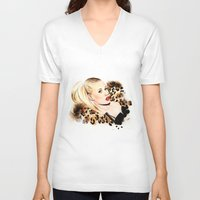 iggy azalea V-neck T-shirts featuring Iggy Azalea NYLON  by Tiko Meow