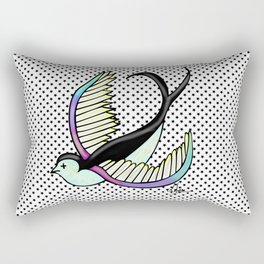 Black swallow odl school Rectangular Pillow