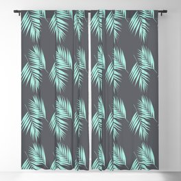 Palm Leaves Pattern #8 #Mint #CoolGray #decor #art #society6 Blackout Curtain
