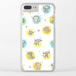 cute animals shaking butts after swimmig, summer is here yay! Clear iPhone Case