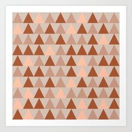 Arrows Minimalist Monochrome Pattern in Clay and Taupe Art Print
