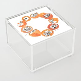 Persimmon Wreath Acrylic Box
