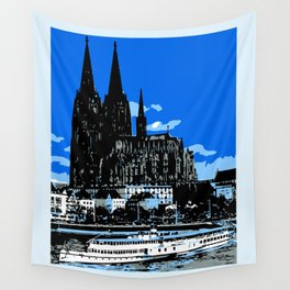 Koeln Cologne retro vintage style travel advertising Wall Tapestry