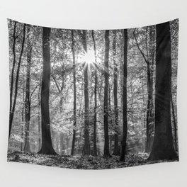 Beech Wood Sunrise Wall Tapestry