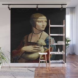 Leonardo da Vinci's The Lady with an Ermine Wall Mural