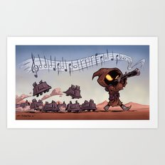 The Pied Piper of Tatooine Art Print