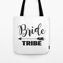 Bride Tribe Arrow Groom Tribe Bridal Party Bridesmaid Groomsmen Bachelor Bachelorette Tote Bag